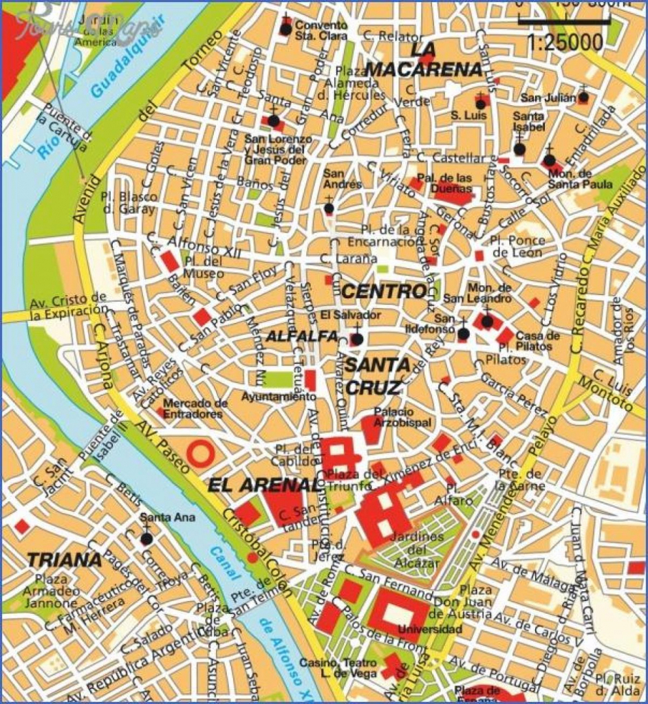 Central Seville Tourist Map - Seville • Mappery - Seville Tourist throughout Printable Tourist Map Of Seville