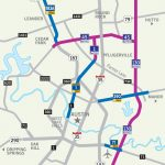 Central Texas Toll Roads Map   Austin Texas Road Map | Printable Maps Throughout Printable Map Of Austin Tx