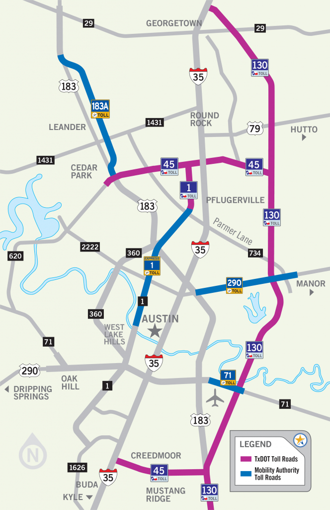 Central Texas Toll Roads Map - Austin Texas Road Map | Printable Maps throughout Printable Map Of Austin