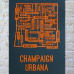 Champaign Urbana, Illinois Street Map Print | Our New House With Regard To Printable Map Of Champaign Il
