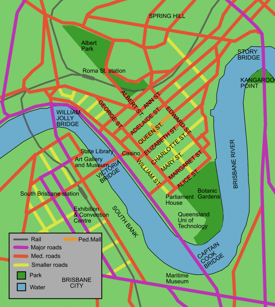 Charlotte Street, Brisbane - Wikipedia for Brisbane Cbd Map Printable