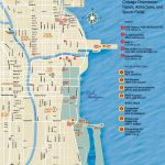 Chicago Downtown Map Throughout Printable Map Of Chicago