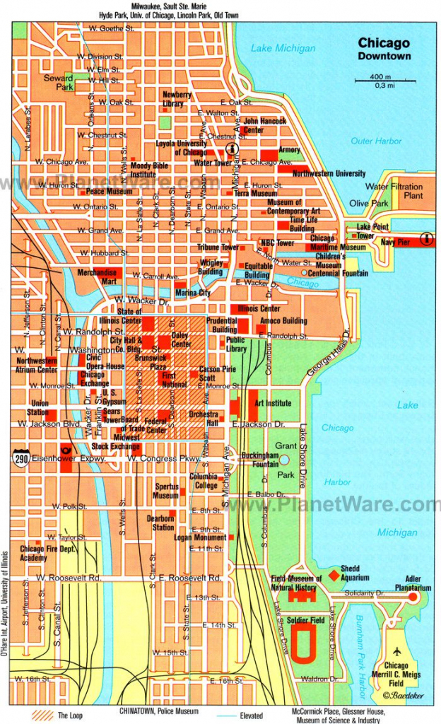 Chicago, Il - Map. Tagged Along On A Friends Business Trip Solo in Chicago Loop Map Printable