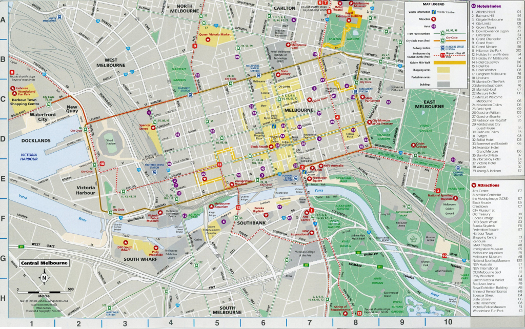 City Map Of Melbourne Australia 5B0879B49644B 9 - World Wide Maps with Melbourne Tourist Map Printable