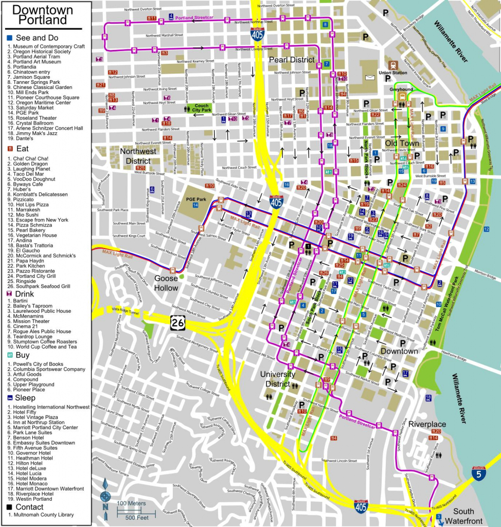 City Map Of Portland Oregon - City Map Portland Oregon (Oregon - Usa) throughout Printable Map Of Portland Oregon