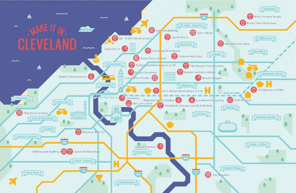 City Of Cleveland Economic Development - Maker Map inside Printable Map Maker