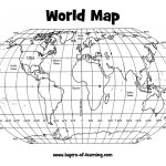 Climate: Latitude And Longitude World Map Grid Layers Of Learning With Regard To Map Of World Latitude Longitude Printable