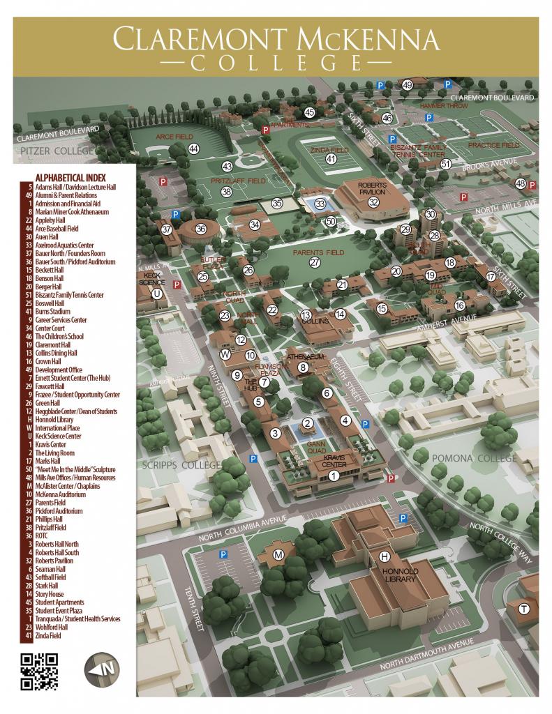Cmc Campus Maps | Claremont Mckenna College with Printable Aerial Maps