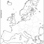 Collection Of Blank Outline Maps Of Europe In Printable Blank Map Of Europe