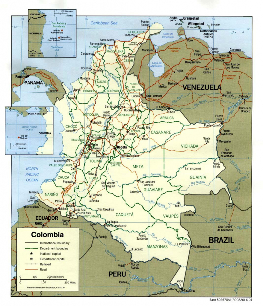 Colombia Maps | Printable Maps Of Colombia For Download inside Printable Map Of Colombia