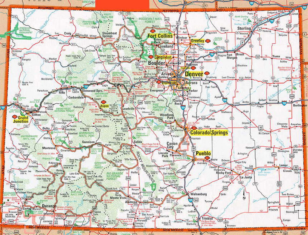 Colorado Map Collection With Printable Online Maps Of Colorado State pertaining to Printable Map Of Colorado