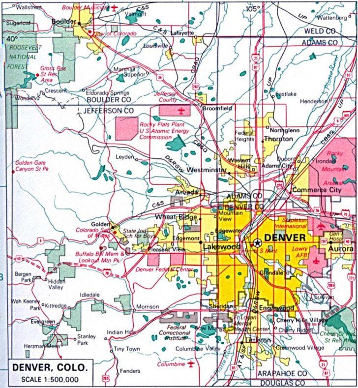 Denver City Map Printable