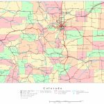 Colorado Printable Map Pertaining To Printable Road Map Of Colorado