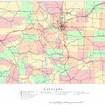 Colorado Printable Map Regarding Printable Map Of Colorado Springs