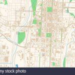Colorado Springs Colorado Printable Map Excerpt. This Vector Inside Printable Map Of Colorado Springs