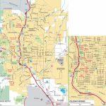 Colorado Springs Road Map With Printable Map Of Colorado Springs