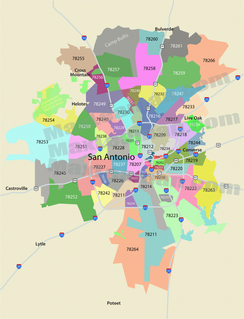 Colorado Springs Zip Code Map Printable San Antonio Zip Code Map in Colorado Springs Zip Code Map Printable
