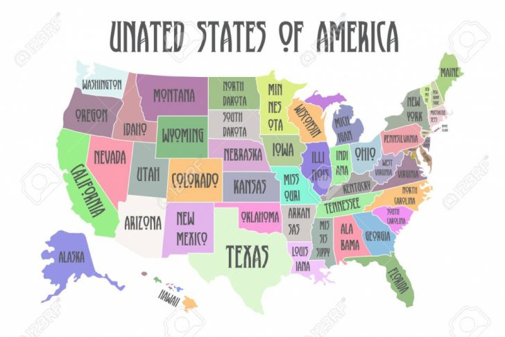 Printable Map Of The United States With State Names