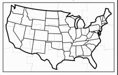 Usa Map Black And White Printable
