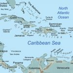 Comprehensive Map Of The Caribbean Sea And Islands   Maps Of With Printable Map Of The Caribbean