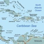Comprehensive Map Of The Caribbean Sea And Islands With Printable Road Map Of St Maarten