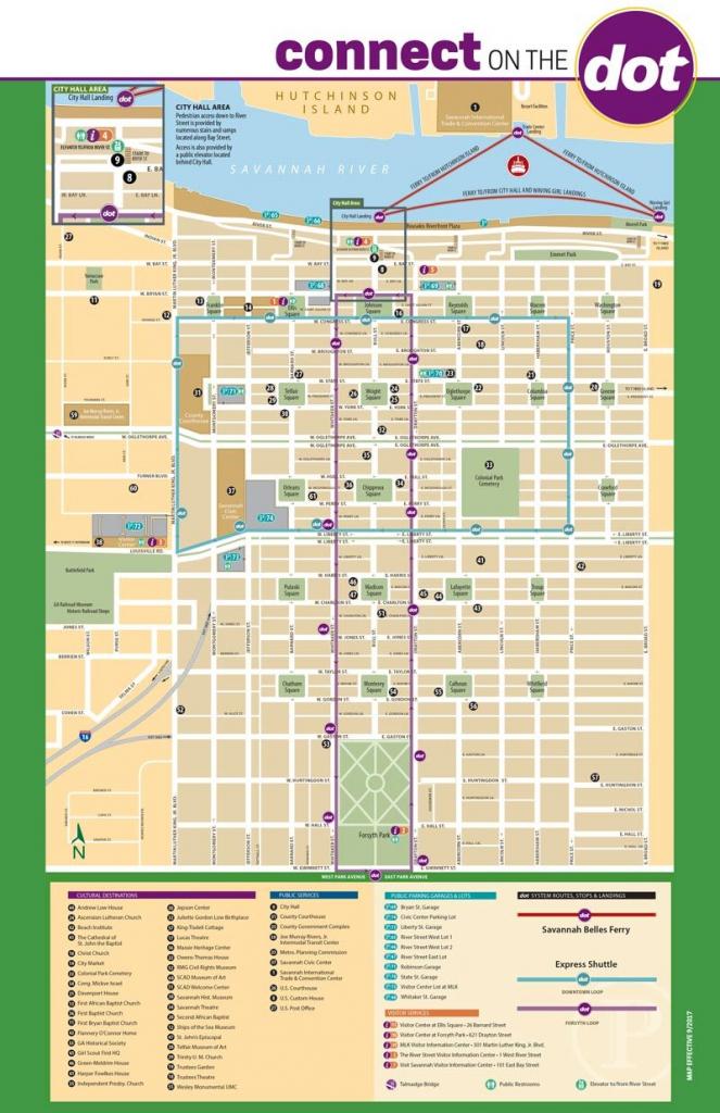 Connect On The Dotdot Express Shuttle - Savannah, Ga - Free Downtown throughout Printable Map Of Savannah