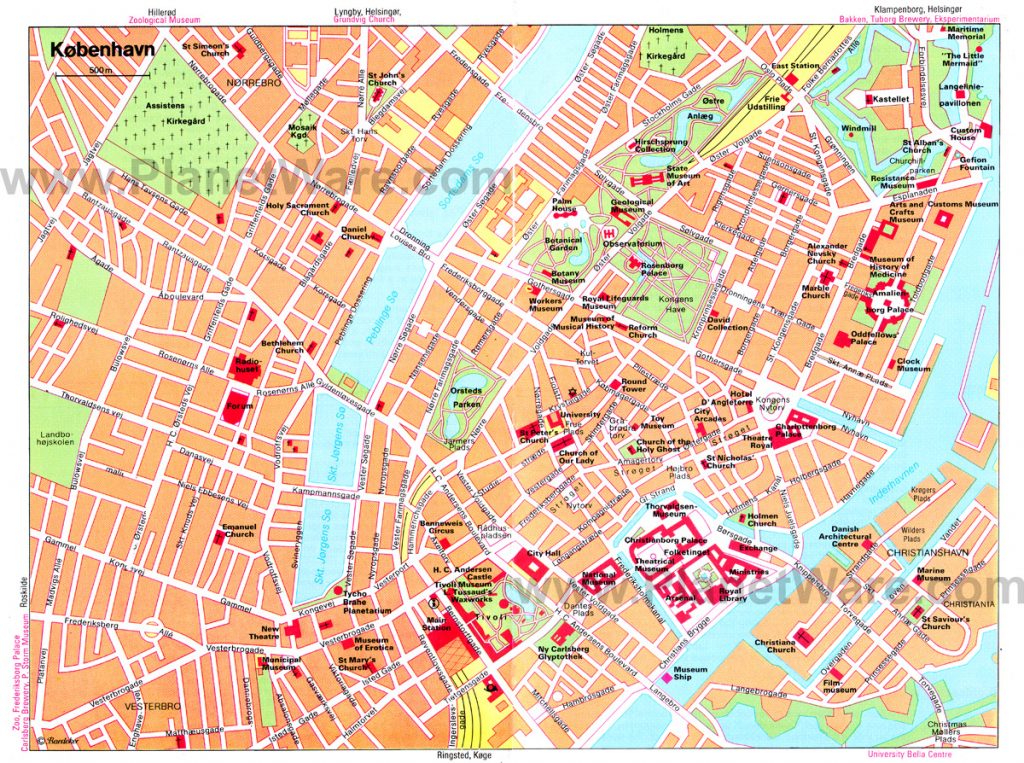 Copenhagen Map - Detailed City And Metro Maps Of Copenhagen For inside Printable Map Of Copenhagen