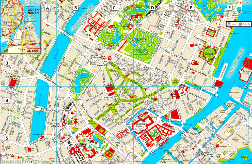Copenhagen Maps - Top Tourist Attractions - Free, Printable City intended for Printable Map Of Copenhagen