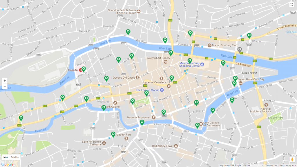 Cork Travel Information | Transportandmobilityforum in Cork City Map Printable