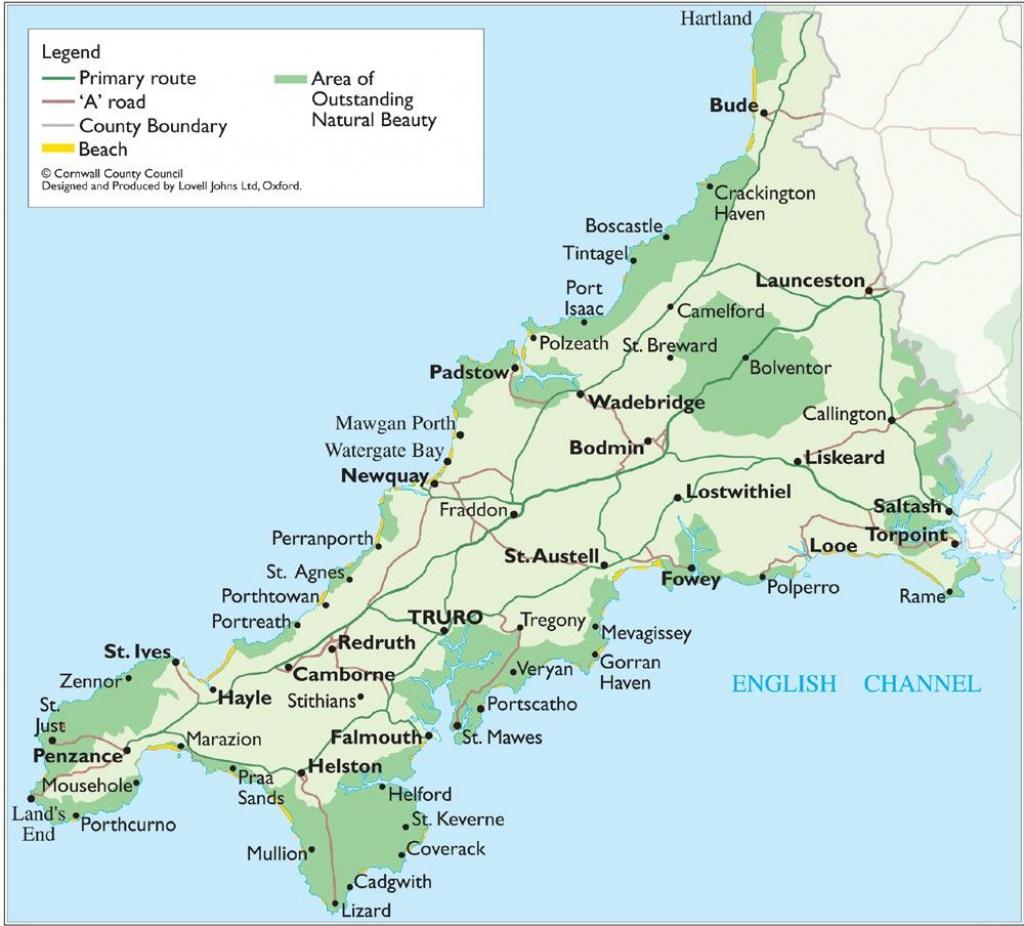 Cornwall Map - Cornwall England Uk • Mappery | Genealogy: England In regarding Printable Map Of Cornwall