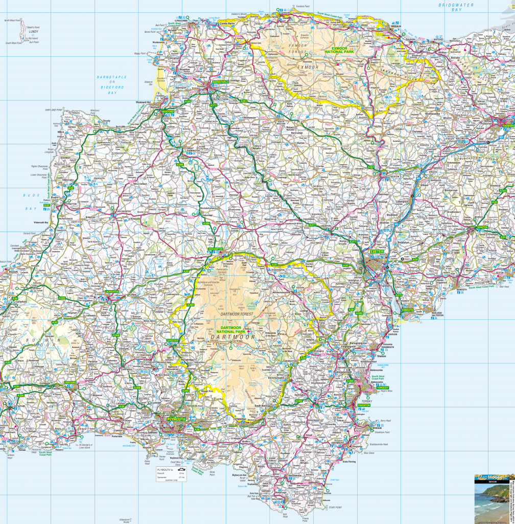 Cornwall Offline Map, Including The Cornish Coastline, Lands End within Printable Map Of Cornwall