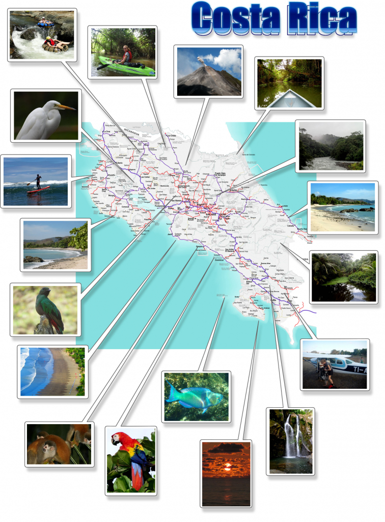 Costa Rica- Free Printable Map Download with Free Printable Map Of Costa Rica