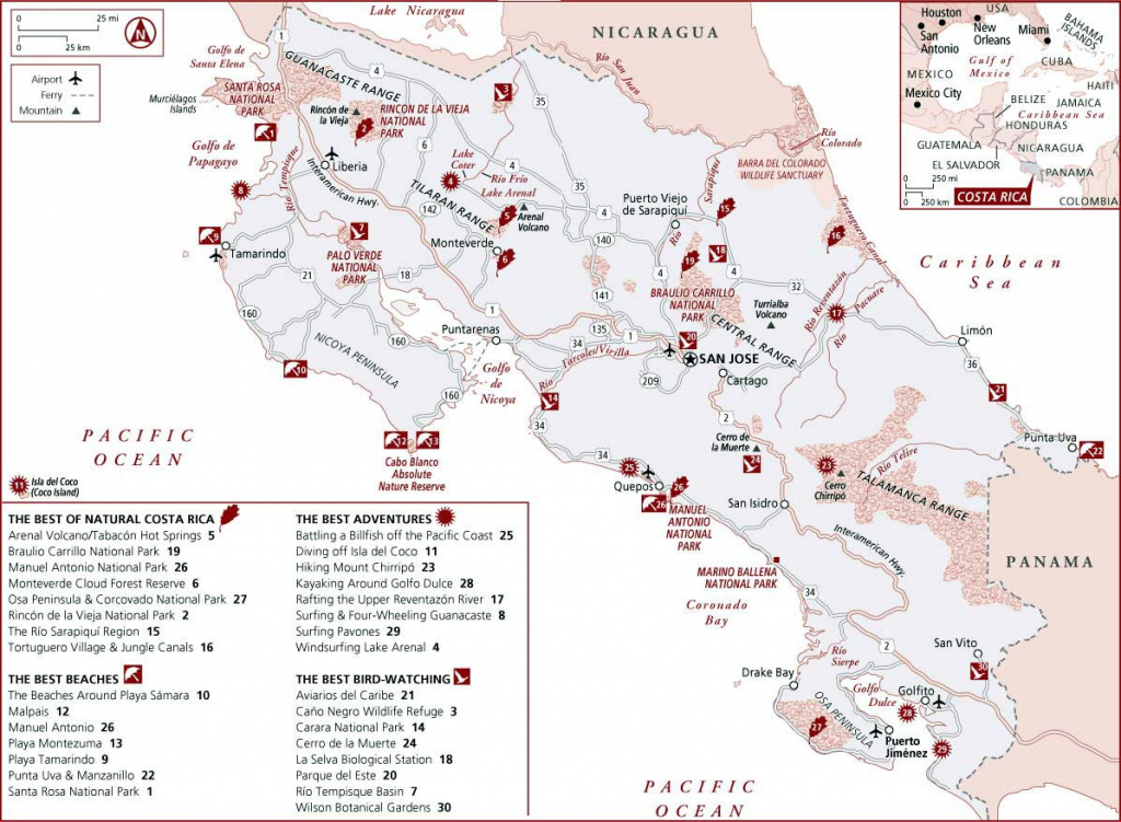 Costa Rica Maps | Printable Maps Of Costa Rica For Download intended for Printable Map Of Costa Rica