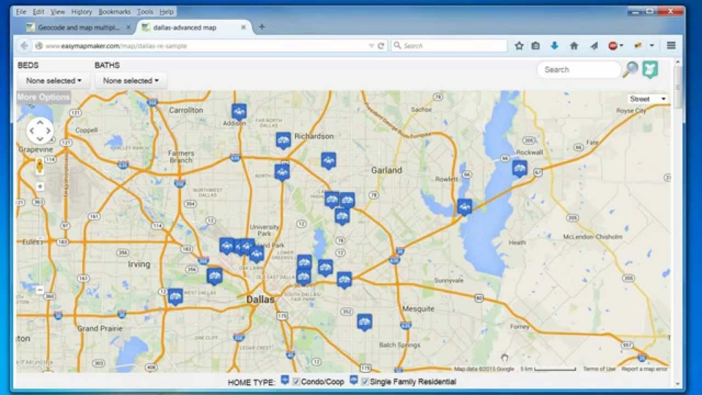 Create A Map: Easily Map Multiple Locations From Excel Data for Printable Map Maker