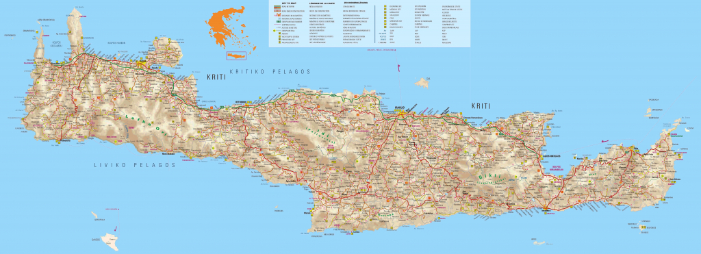 Crete Maps, Print Maps Of Crete, Map Of Chania Or Heraklion with Printable Map Of Crete