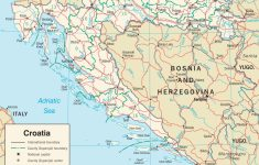 Printable Map Of Croatia