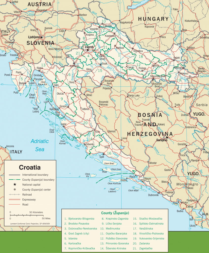 Croatia Maps | Maps Of Croatia inside Printable Map Of Croatia