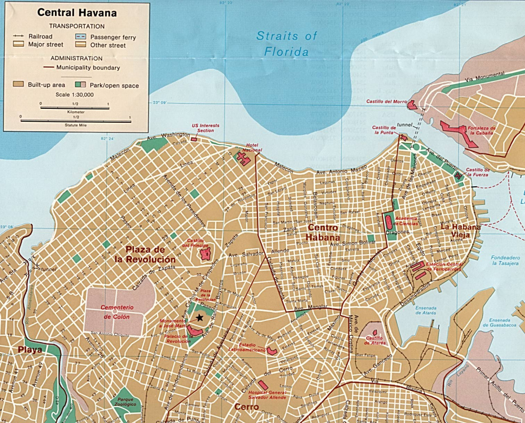 Cuba Maps - Perry-Castañeda Map Collection - Ut Library Online with regard to Havana City Map Printable