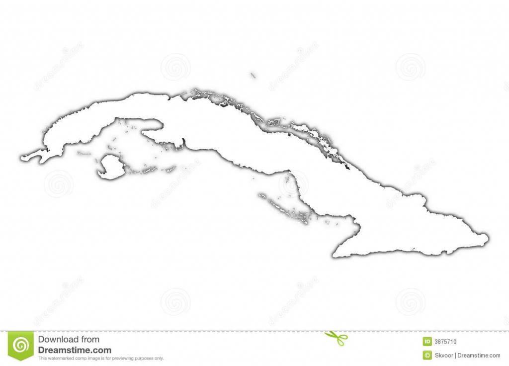 Cuba Outline Map Shadow Street Maps Cuba Map Black And White 12 Cuba regarding Printable Outline Map Of Cuba