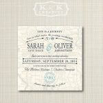 Custom Map Printable Wedding Invitation 5X5Kandkcreative, $20.00 With Regard To How To Create A Printable Map For A Wedding Invitation