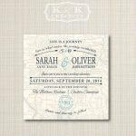 Custom Map Printable Wedding Invitation 5X5Kandkcreative, $20.00 With Regard To How To Create A Printable Map For A Wedding Invitation