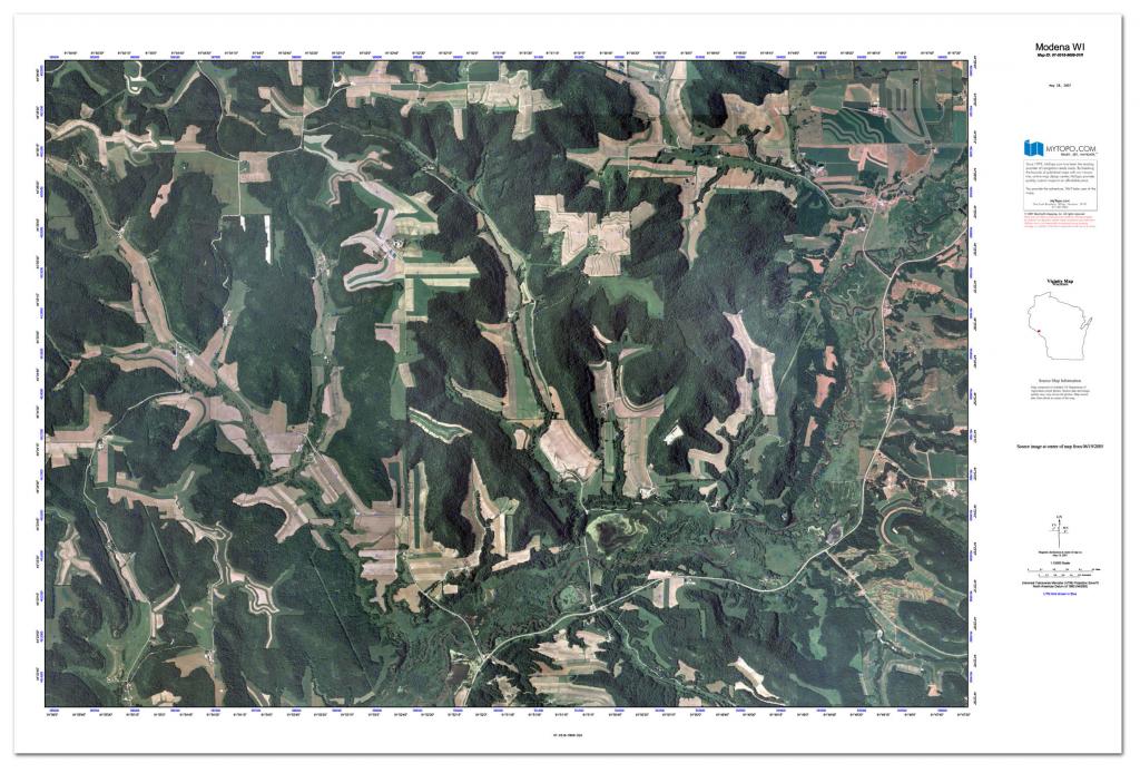 Custom Printed Topo Maps - Custom Printed Aerial Photos for Printable Aerial Maps