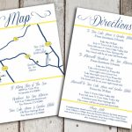 Custom Wedding Map And Direction Invitation Insert Printable File Intended For How To Create A Printable Map For A Wedding Invitation