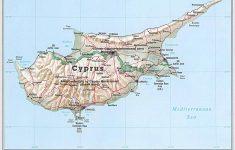 Printable Map Of Cyprus