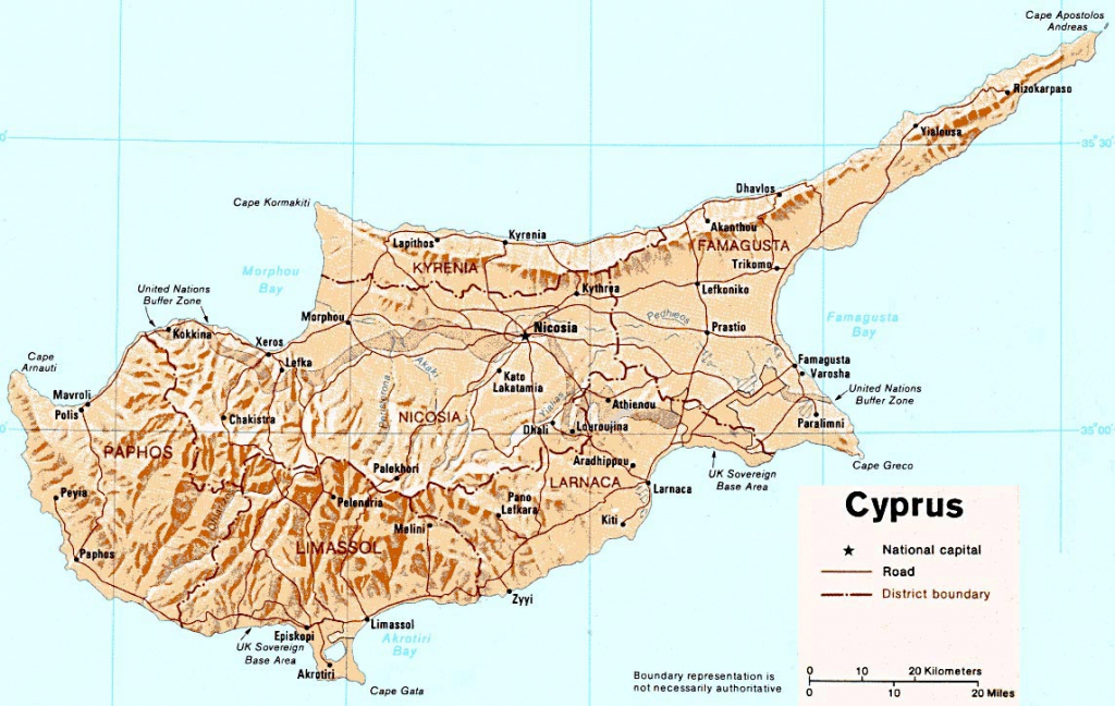 Cyprus Maps | Printable Maps Of Cyprus For Download intended for Printable Map Of Cyprus