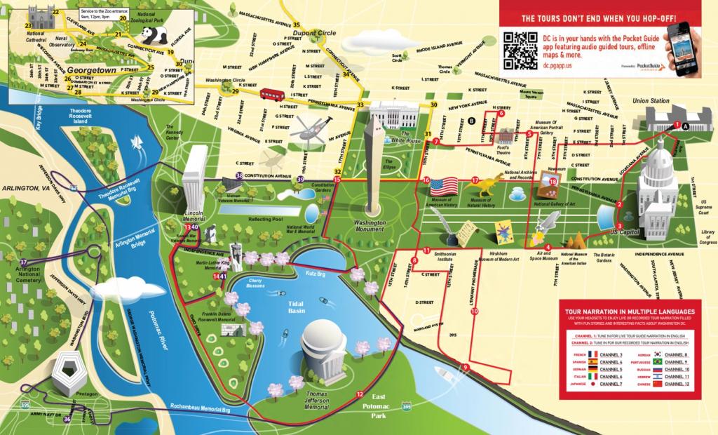 Dc Tourist Map And Travel Information | Download Free Dc Tourist Map regarding Printable Street Map Of Washington Dc