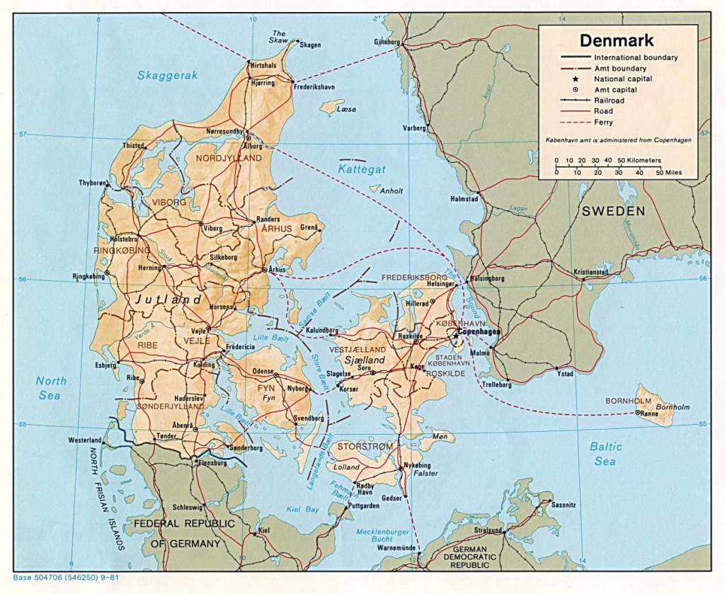 Denmark Maps | Printable Maps Of Denmark For Download with Printable Map Of Denmark