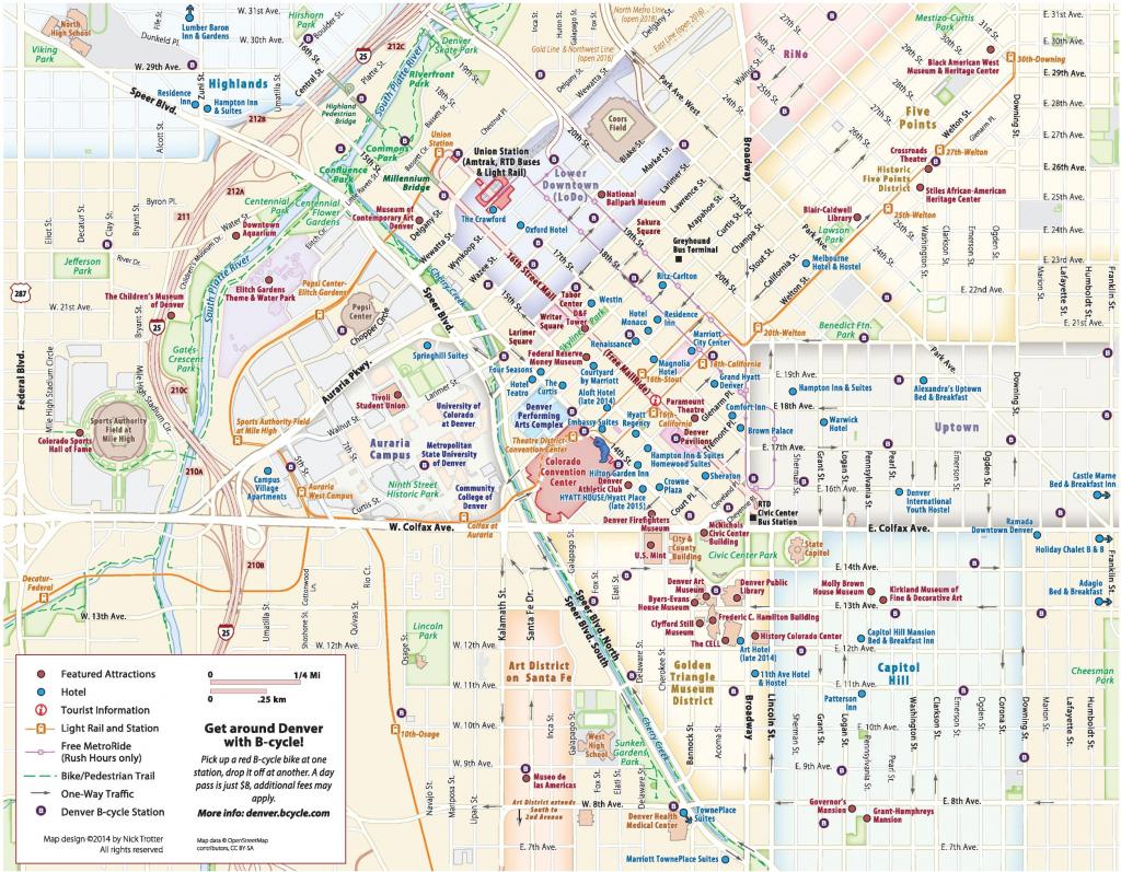 Denver Maps | Colorado, U.s. | Maps Of Denver throughout Denver City Map Printable
