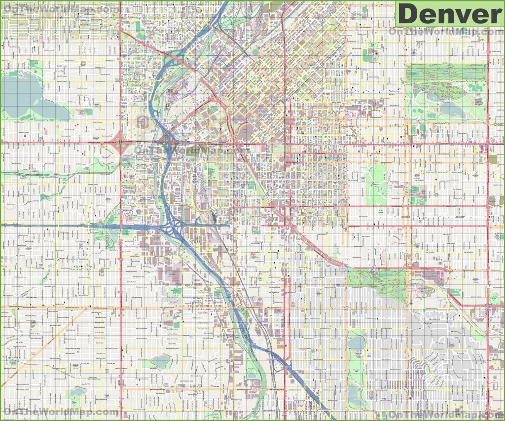 Denver Maps | Colorado, U.s. | Maps Of Denver with Denver City Map Printable