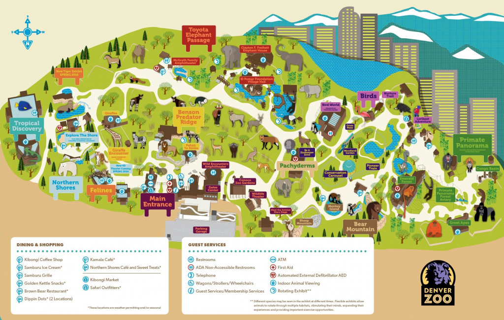 Denver Zoo Map for Printable Detroit Zoo Map